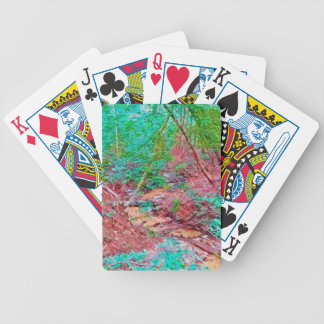 Abstract Forest Bicycle Playing Cards