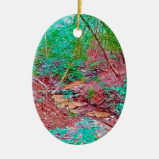 Abstract Forest Ceramic Ornament