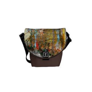 Abstract forest courier bags