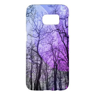 "Abstract forest ""customize color""phone case purple"