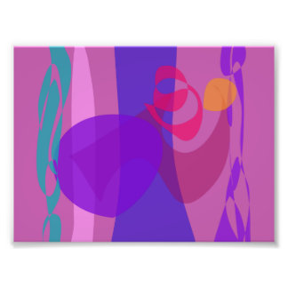 Abstract Forest Image Cool Soft Photo Print