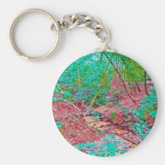 Abstract Forest Keychain