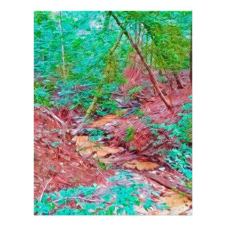 Abstract Forest Letterhead