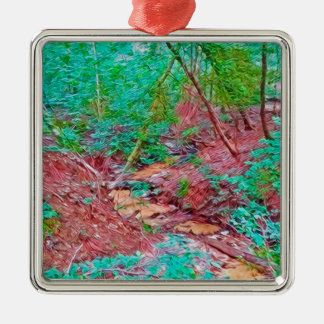 Abstract Forest Metal Ornament
