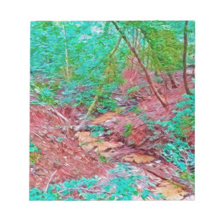 Abstract Forest Notepad