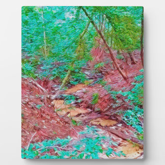 Abstract Forest Plaque