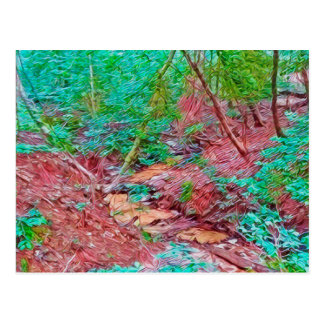 Abstract Forest Postcard
