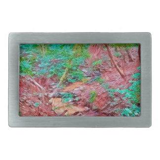 Abstract Forest Rectangular Belt Buckle