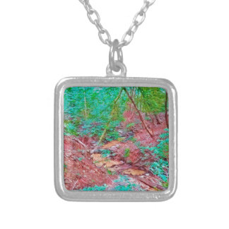 Abstract Forest Silver Plated Necklace