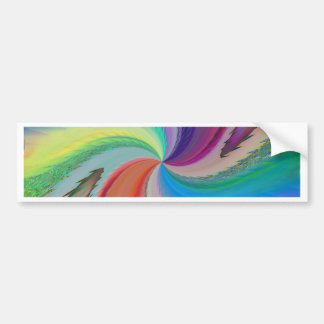Abstract forms and colours no. 1 by Tutti Bumper Sticker