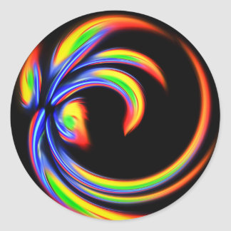Abstract forms classic round sticker
