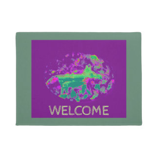 Abstract Fox Art Doormat