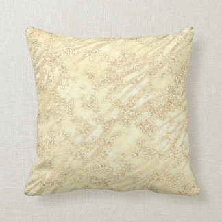 Abstract Foxier Gold Sepia Sparkly Glitter Lux Throw Pillow