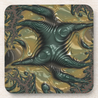 Abstract fractal cuff RNS and shapes. Fractal kind Coaster