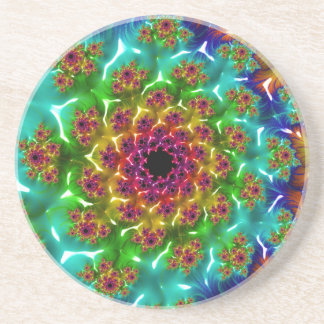 Abstract fractal cuff RNS and shapes. Fractal kind Coasters