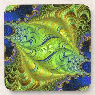 Abstract fractal cuff RNS and shapes. Fractal kind Drink Coasters