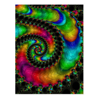 Abstract fractal cuff RNS and shapes. Fractal kind Postcard