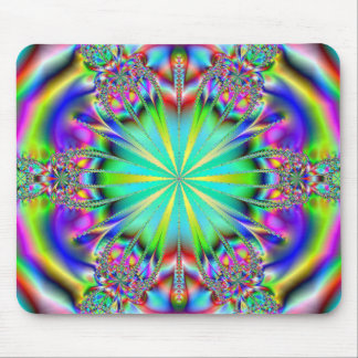 Abstract Fractal Floral Mousepad
