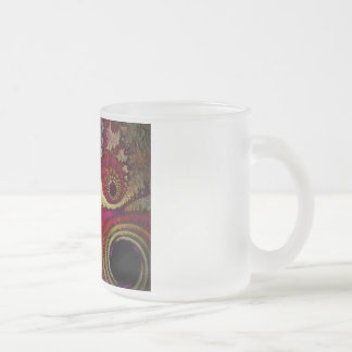 Abstract Fractal Frosted Glass Mug