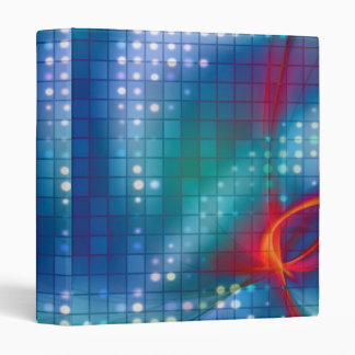 Abstract Fractal Grid Background Vinyl Binder