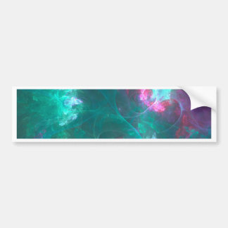 Abstract fractal in a cold palette bumper sticker