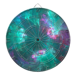 Abstract fractal in a cold palette dartboard