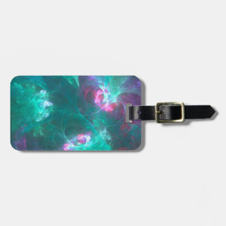 Abstract fractal in a cold palette luggage tag