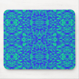 Abstract Fractal In Blue And Green Mouse Pad