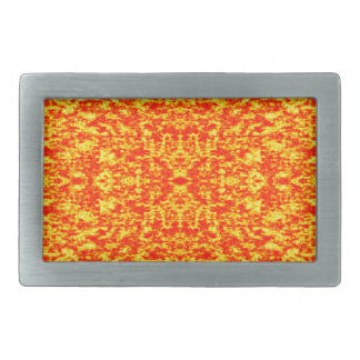Abstract Fractal In Red And Orange Belt Buckle