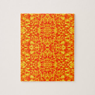 Abstract Fractal In Red And Orange Jigsaw Puzzle