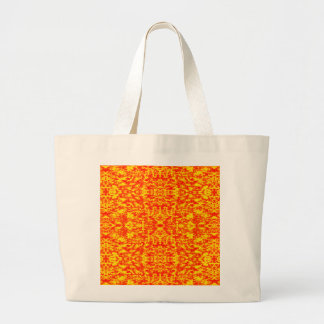 Abstract Fractal In Red And Orange Large Tote Bag