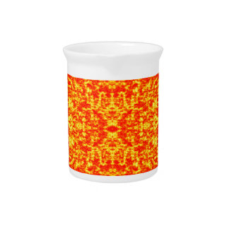 Abstract Fractal In Red And Orange Pitcher