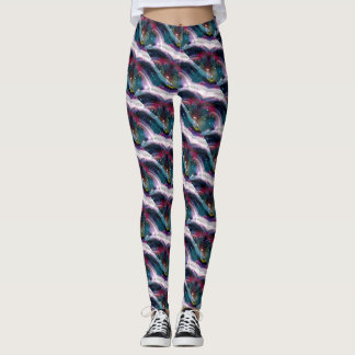 Abstract Fractal Pattern Leggings