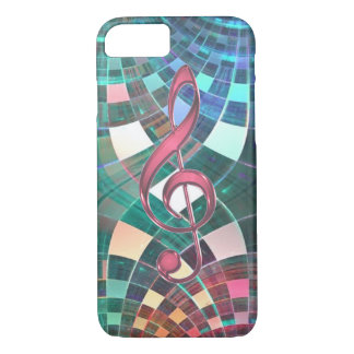 Abstract Fractal Pattern Music Clef iPhone 7 Case