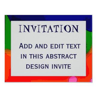 "Abstract Frame 4, INVITATION, 4.25"" X 5.5"" Invitation Card"