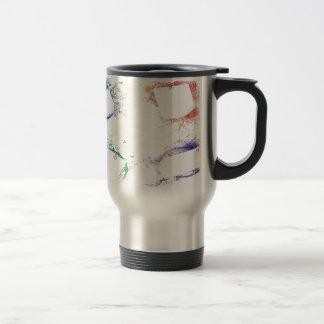 Abstract frames background design 15 oz stainless steel travel mug
