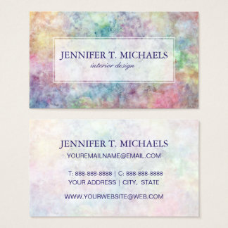 abstract free hand drawing from watercolor business card