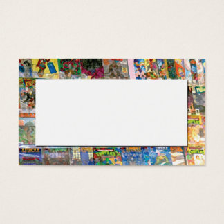 abstract from comic book store business card