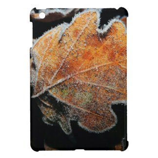 Abstract frozen leaf iPad mini covers