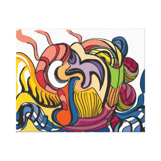 'Abstract Fruit Bowl' 20x16 Premium Canvas (Gloss)