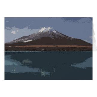 """Abstract Fuji Yama"" - Card"