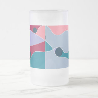 Abstract Fun 16 Oz Frosted Glass Beer Mug
