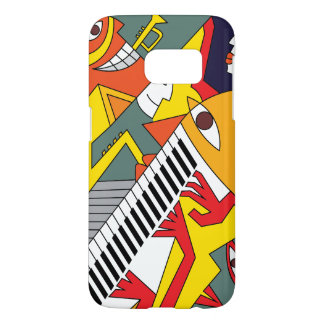 Abstract Fun Jazz Art Samsung Galaxy S7 Case