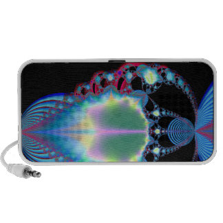 abstract funky blue iPod speaker