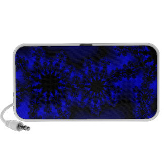 abstract funky blue speaker