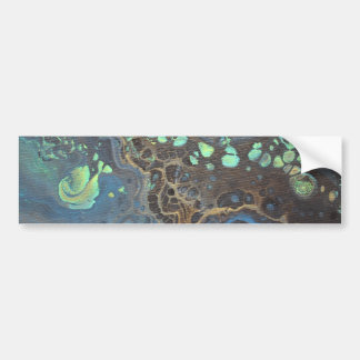 Abstract Funky Galaxy Bumper Sticker