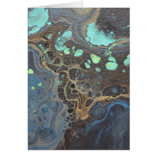 Abstract Funky Galaxy Card