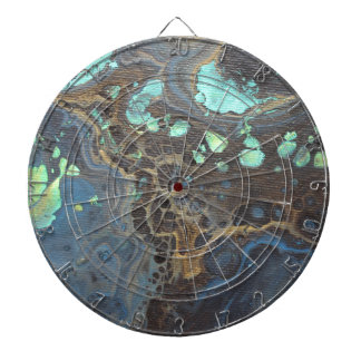 Abstract Funky Galaxy Dartboard