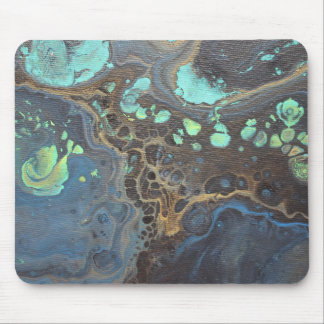 Abstract Funky Galaxy Mouse Pad
