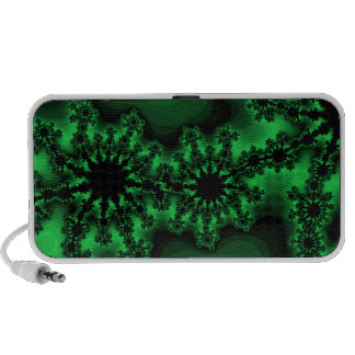 abstract funky green speaker